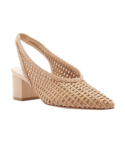 Pointed Braided Sandal Tan