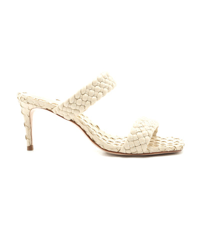 Deluxe Brilho Heeled Sandal White