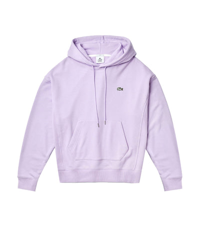 Unisex Lacoste LIVE Kangaroo Pocket Hooded Sweatshirt Purple