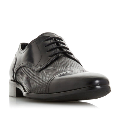 Shell Textured Toe Cap Shoes Black