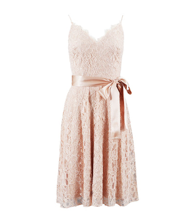 sho lace party dress champagne pink
