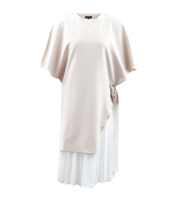 Holly Dress White and Cream