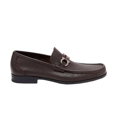 Gancini Bit Moccasin Dark Brown