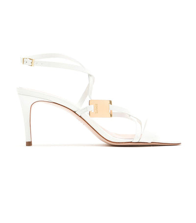 Deluxe Nappa Strappy Sandals White