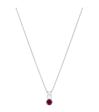 swarovski attract trilogy round red pendant