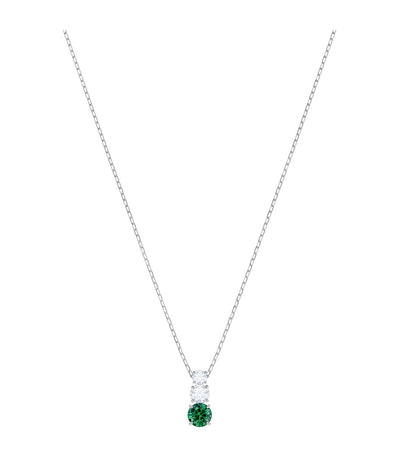 swarovski attract trilogy round green pendant