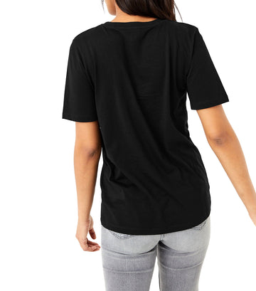 Pure Cotton Straight Fit T-Shirt Black