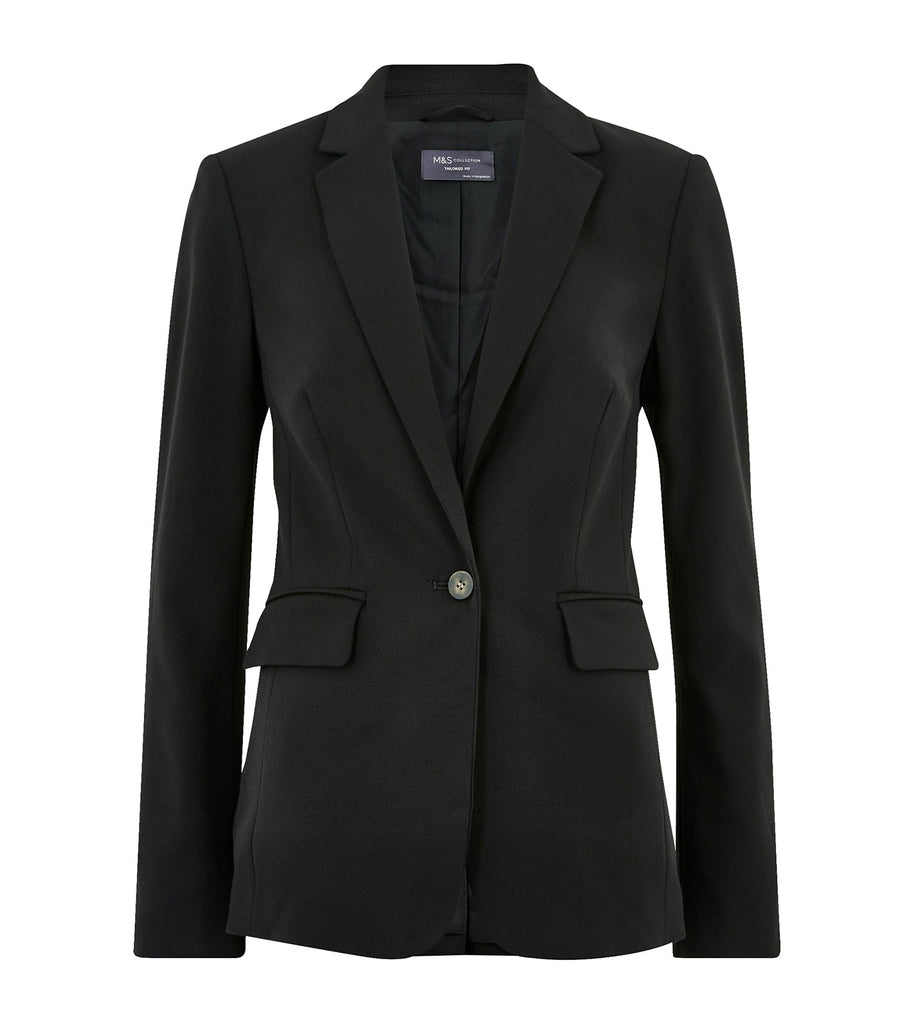 Tailored Single Breasted Blazer Black