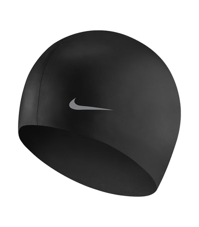 nike swim solid silicone youth cap black