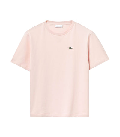 Women's Crew Neck Premium Cotton T-Shirt Light Pink