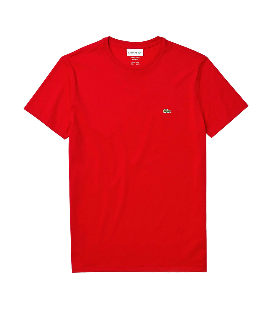 Men's Crew Neck Pima Cotton Jersey T-Shirt Red