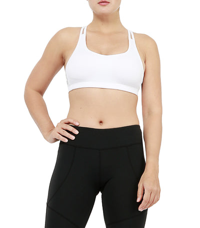 atsui toshi sports bra white