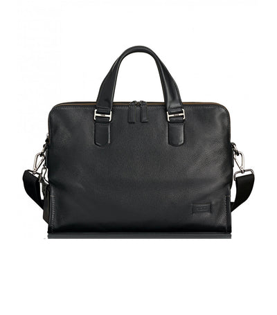 Seneca Slim Brief Black Pebbled