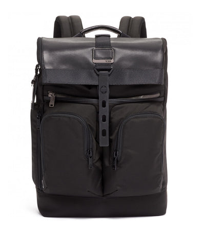 London Roll Top Backpack Black
