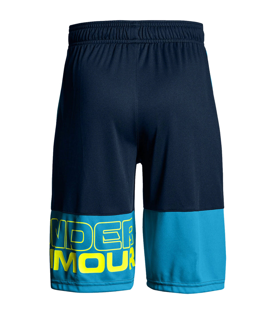 under armour blue boys stunt training shorts
