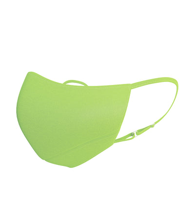 Adult Premium Reusable Fabric Mask Neon Green