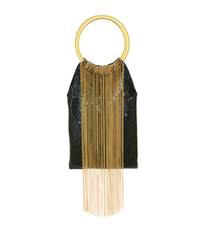 Gold Rush Fringe Handbag Black