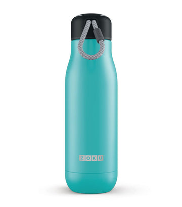 zoku 18oz stainless steel bottle - teal