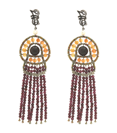 ziio seduction garnet small french clip earrings
