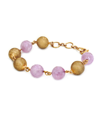 adami & martucci sterling silver pink gold plated bracelet with lavender amethyst