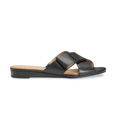 aerosoles orbit slide sandals black