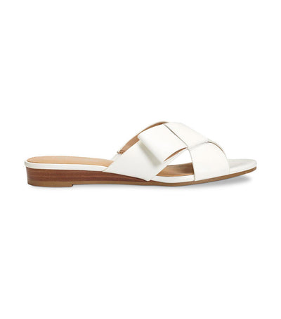 aerosoles orbit slide sandals white