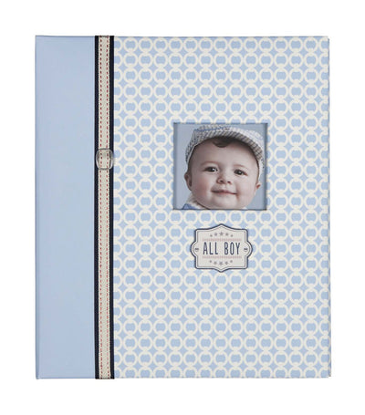 c.r. gibson loose leaf memory book - all boy