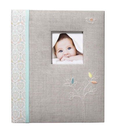 c.r. gibson loose leaf memory book - linen tree