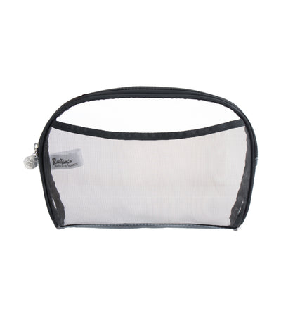 beauty essentials pvc oval clutch