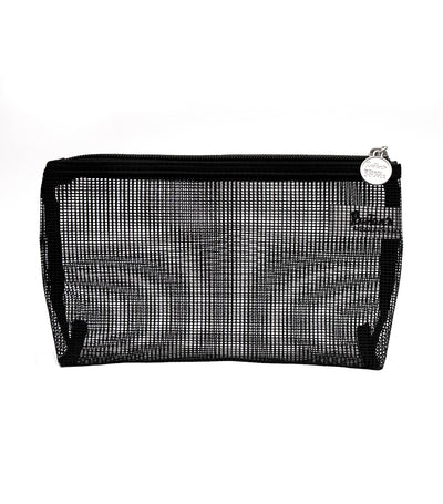 beauty essentials rubber mesh medium purse