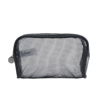 beauty essentials mesh clutch
