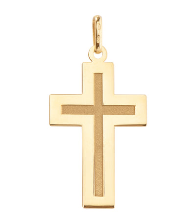 argyor 18k yellow gold latin cross pendant