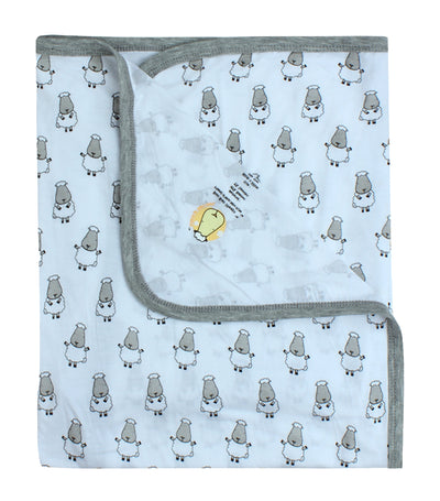 Single Layer Baby Blanket - Small Sheepz