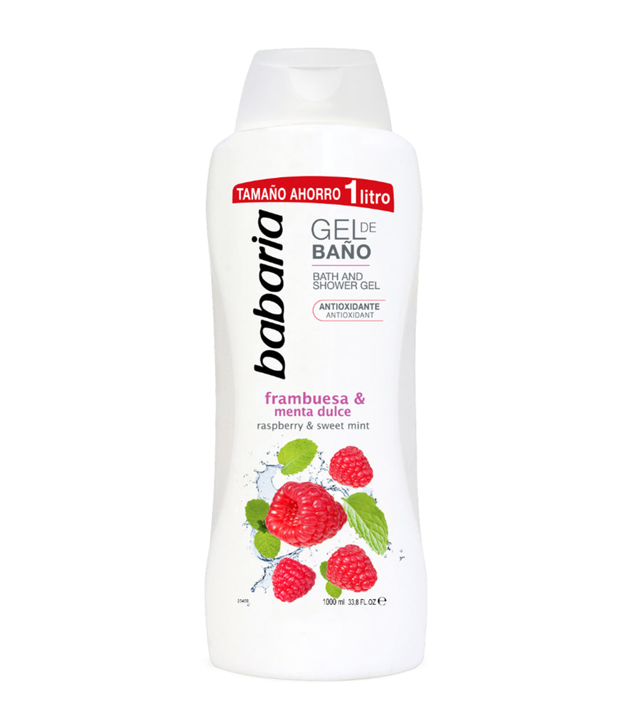 babaria raspberry and sweet mint shower gel