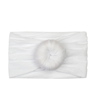baby club white lily donut soft elastic baby headwrap