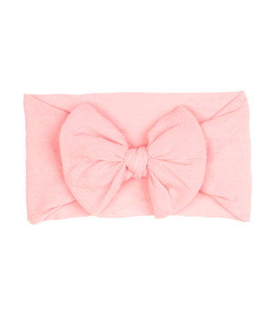 baby club light pink mindy bow soft elastic baby headwrap