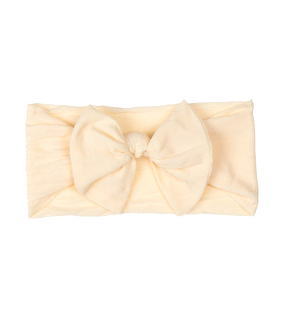 baby club light yellow mindy bow soft elastic baby headwrap