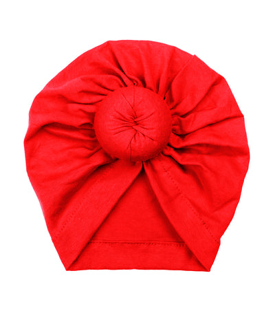 red baby club lizzie donut soft cotton baby turban