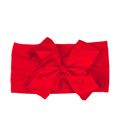 baby club red dolly big satin soft elastic baby headwrap