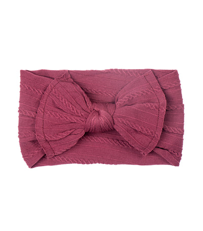 baby club maroon lady big bow textured baby headwrap