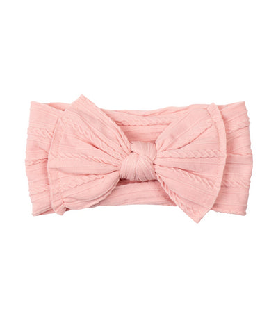 baby club pink lady big bow textured baby headwrap