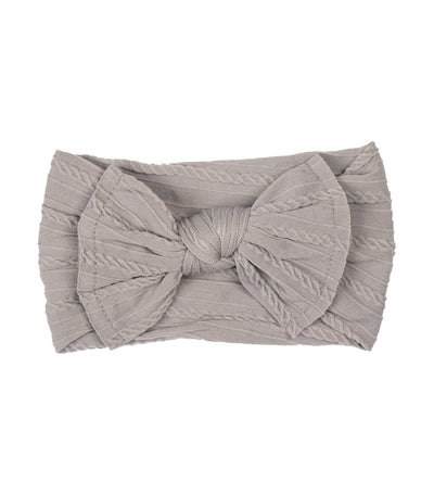 baby club gray lady big bow textured baby headwrap