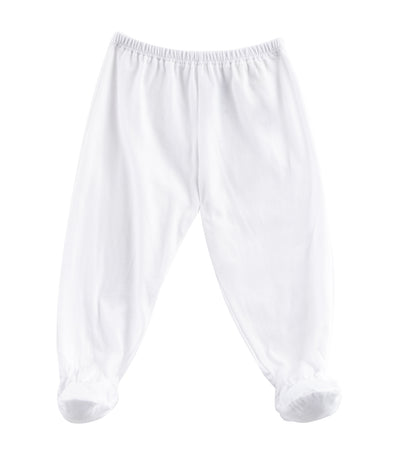 baby club white footie pajama singles