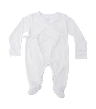 baby club white sleepsuit singles