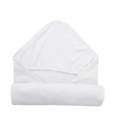 baby club white hoody hooded towel
