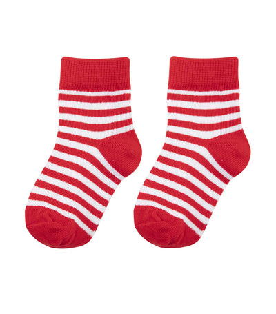 baby club red jolly christmas socks