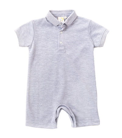 baby club gray billy polo romper
