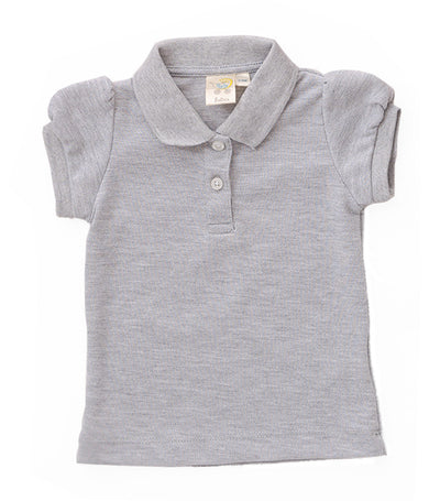 baby club gray patti puff sleeved polo shirt