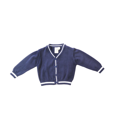 baby club blue cole v-neck cardigan