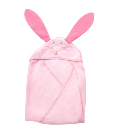 baby club pink bunny hooded blanket